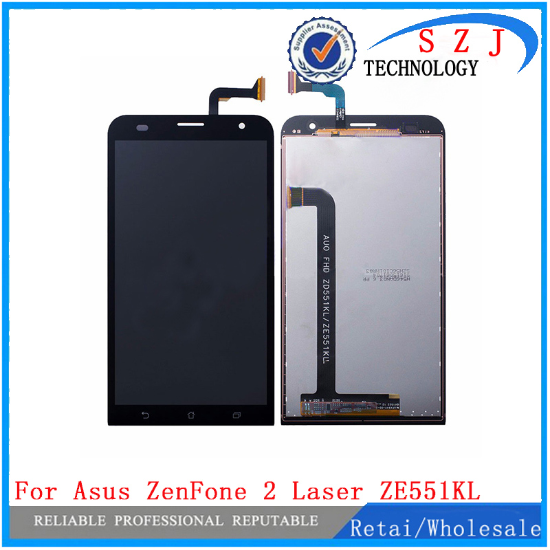 New case For Asus ZenFone 2 Laser ZE551KL Z00TD Full Digitizer Touch Screen Panel Sensor Glass + LCD Display Monitor Assembly 5 5 lcd display touch glass digitizer assembly for asus zenfone 3 laser zc551kl replacement pantalla free shipping