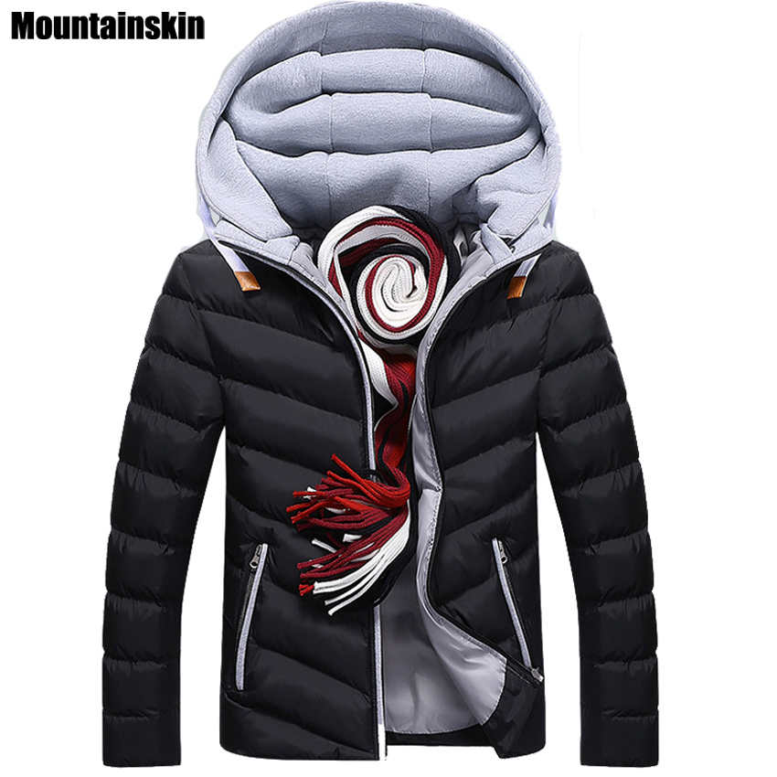 Moutainskin 4XL Winter Parkas Men's Jackets 2018 Casual Hooded Coats Men Outerwear Thick Cotton Jacket Male Brand Clothing SA152(China)