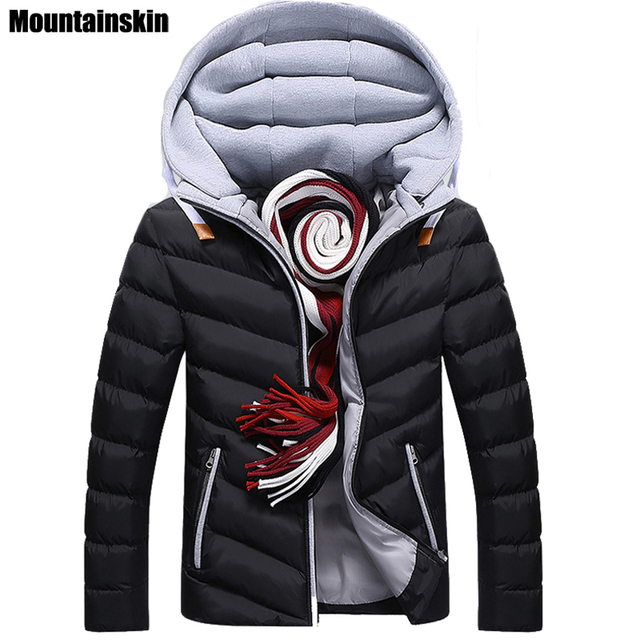 Moutainskin 4XL Winter Parkas Men's Jacket Casual Hooded Coats For Men Down Cotton Jacket Male Coats Thick Brand Clothing,SA152