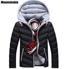 Moutainskin 4XL invierno Parkas chaquetas 2018 Casual capucha abrigos hombres ropa de abrigo gruesa Chaqueta de algodón Hombre marca ropa SA152