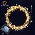 Movido A Energia Solar Luz Cordas 100 Luzes Da Corda de Fio de Cobre LED Estrelado Luzes para Jardins Ao Ar Livre Casas de Dança Festa de Natal