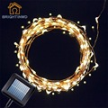 Solar Powered String Light 100 LED Starry String Lights Copper Wire Lights for Outdoor Gardens Homes Dancing Christmas Party