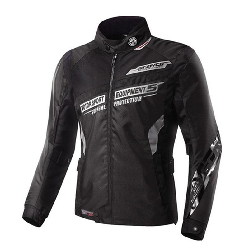SCOYCO moto veste réfléchissante Motocross course hors route équipement de protection armure poitrine dos protecteur hommes vêtements