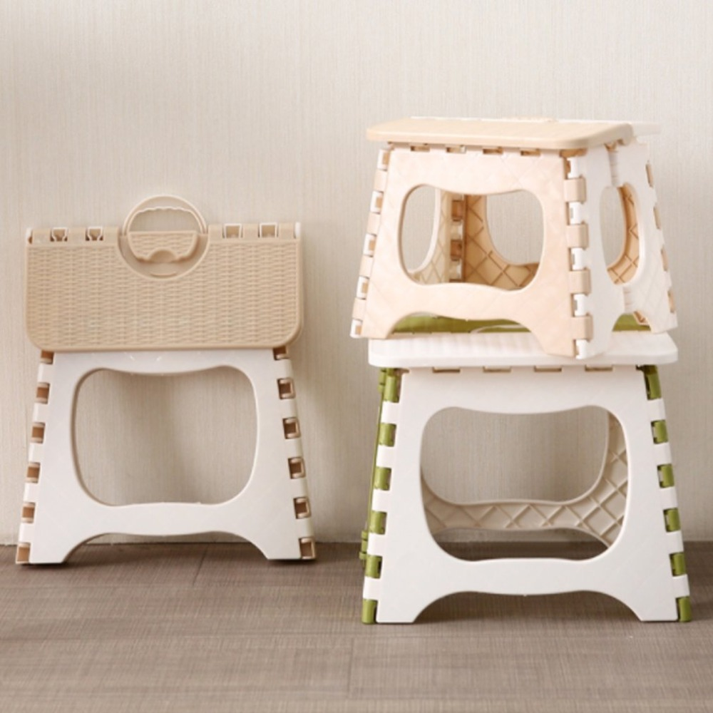 Folding Step Stool Foldable Plastic Portable Small Stool Chair Bench For Children Kids Adults Outdoors Bathroom Chairs