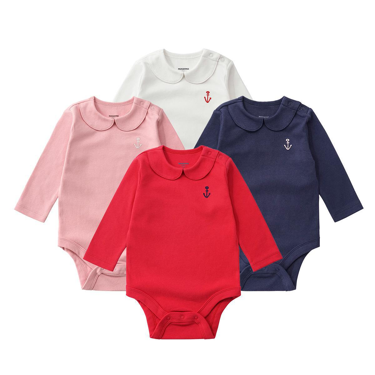 Brand Autumn Style New Born Baby Clothes Long Sleeve Bodysuits Cotton Body Girl Infant-clothing Twins China-imported-clothes