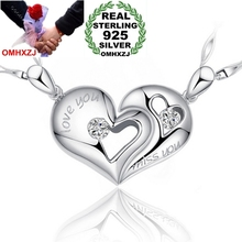 OMHXZJ star jewelry woman men couples Kiss love AAA zircon 925 sterling silver kpop pendant Charms PE35 ( NO Chain Necklace )