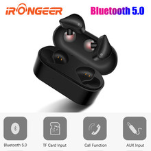Bluetooth Earphone 5.0 Mini TWS Wireless Headset Touch Control Sport Ear Stereo Cordless Earbuds with Charging box(China)