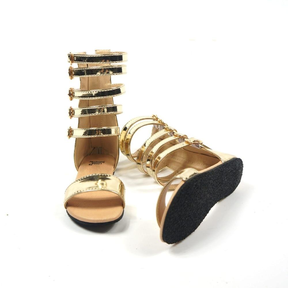 Black sandals baby girl - 2017 Summer Baby Girl Brand Gladiator Shoe Children Fashion Toddler Strap Black Flat Kid Gold Beach Sandals