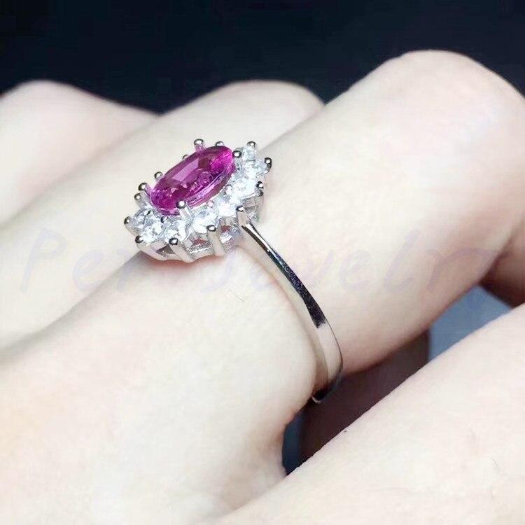 Ювелирное изделие, натуральное Настоящее розовое турмалиновое кольцо,, серебро 925 пробы, 0.9ct, ювелирное изделие X18060204