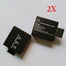 2Pcs 900mAh Sport Camera Battery for SJCAM SJ Series SJ4000 SJ5000 SJ6000 SJ7000 M1 3.7V Li-Ion Rechargeable Batteries Wholesale
