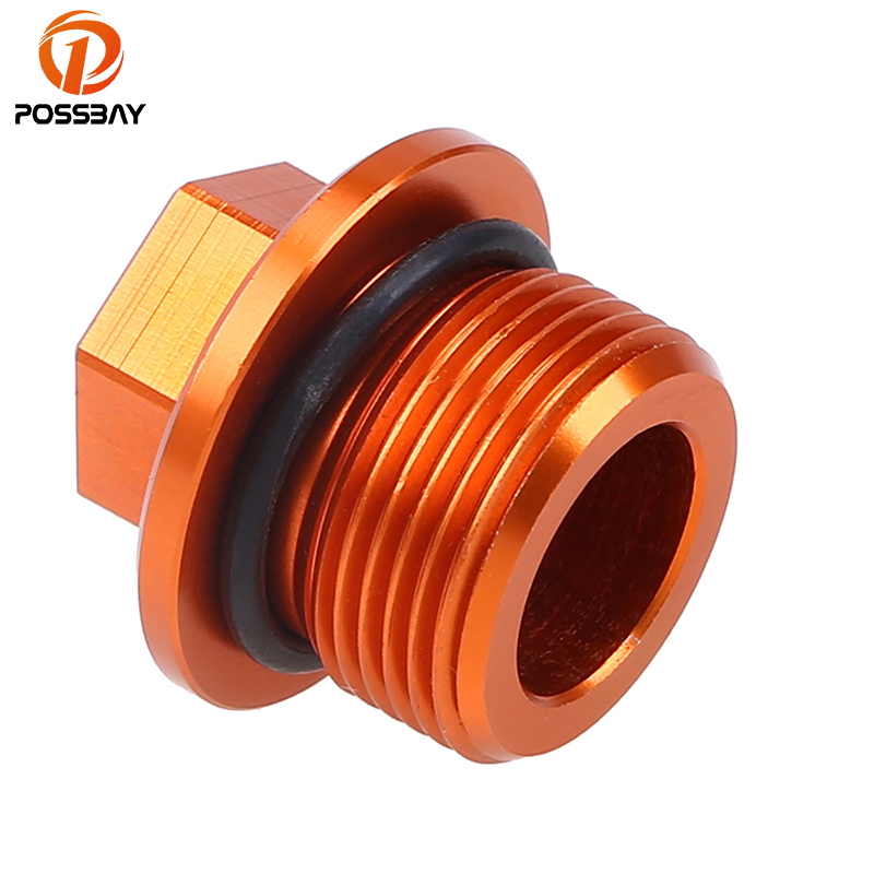 POSSBAY Motorcycle Engine Oil Drain Plug Bolt Nuts fit for KTM Duke 125 200 390 Motocross Pit Dirt Bike Oil Drain Plug Screws for ktm logo 125 200 390 690 duke rc 200 390 motorcycle accessories cnc engine oil filter cover cap