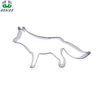Śnieżny wilk kształt lukier dekoracyjny do ciasta narzędzia tnące, ciasteczka do pieczenia ciastek, sprzedaż bezpośrednia