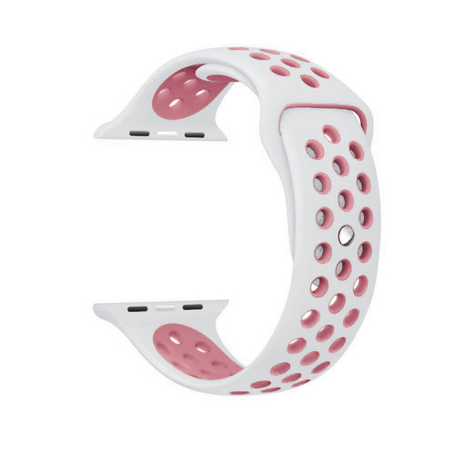 bf65c631943 Soft Silicone Replacement Wristband for Apple Watch Series 1 2 3 ...