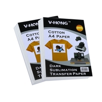 inkjet Heat Transfer Paper (29.7*21cm) PU Material Self Weeding Paper A4 T shirt Thermal Transfers Hollow Paper Printing