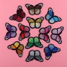 12 pezzi / lotto Patch ricamate Mix Farfalla Ferro su toppe Accessori abbigliamento applique Sew On Motif Badge Adesivi patch fai da te
