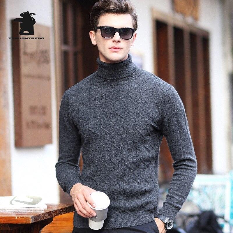 Winter New Mens Wool Sweater Designer Fashion Turtleneck Plus Size 100% Wool Brocade Sweater Men Pullovers S~2XL BF68858