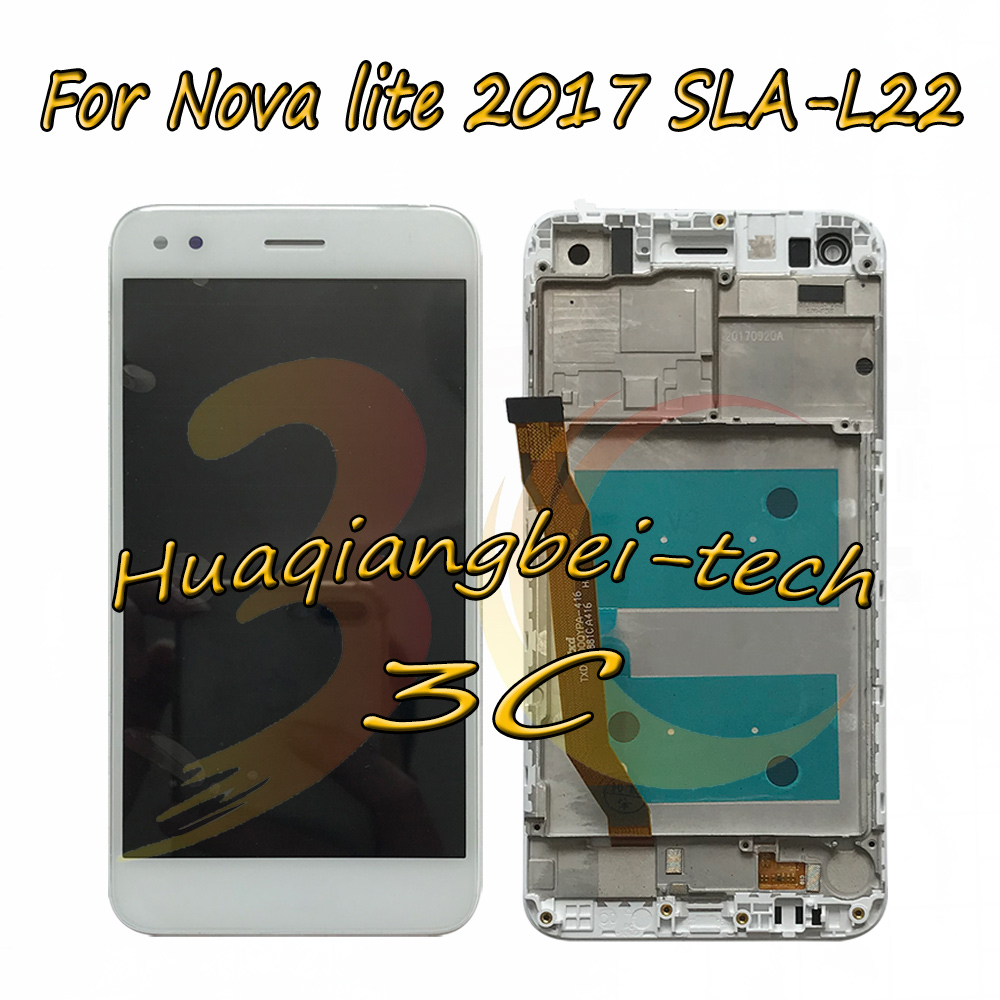 5.0 New For Huawei Nova lite 2017 SLA-L22 Full LCD DIsplay + Touch Screen Digitizer Assembly With Frame 100% Tested5.0 New For Huawei Nova lite 2017 SLA-L22 Full LCD DIsplay + Touch Screen Digitizer Assembly With Frame 100% Tested