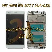 Ограниченное предложение 5,0 »новых для huawei Nova lite 2017 SLA-L22 полный ЖК-дисплей дисплей + Сенсорный экран планшета в сборе с рамкой 100% тестирование