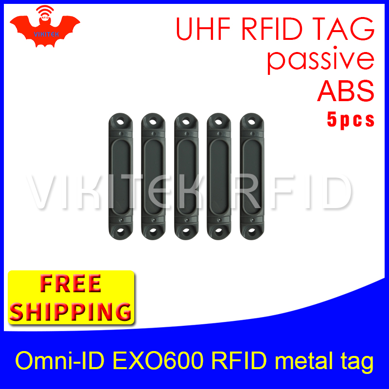 UHF RFID metal tag omni-ID EXO600 915mhz 868mhz Impinj Monza4QT EPC 5pcs free shipping durable ABS smart card passive RFID tags