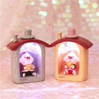 New Year Gifts Cute Ingots Lucky Pig Night Light Small House Baby Kids Led Night Lamp Bedroom Nursery Light Home Decor Ornaments