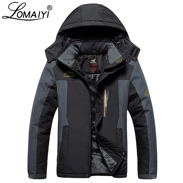 Cheap LOMAIYI Plus Size 8XL 9XL Ultra-Thick Male Winter Jacket Men's Waterproof Hooded Windbreaker Black Warm Winter Parka Men,AM200