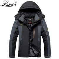 LOMAIYI Plus Size 8XL 9XL Ultra Thick Male Winter Jacket Men's Waterproof Hooded Windbreaker Black Warm Winter Parka Men,AM200