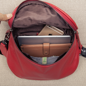 Image 5 - 本革のクロスボディバッグ女性のショルダーバッグの女性の高級ハンドバッグファッションサドルバッグの女性のトート財布嚢メイン