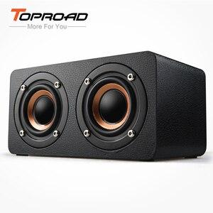 Image 1 - TOPROAD ポータブル 10 3w の Bluetooth スピーカーワイヤレス 3D が Stero ホームシアターデスクトップスピーカーカイシャ · デ · ソムサポート FM ラジオ Aux TF