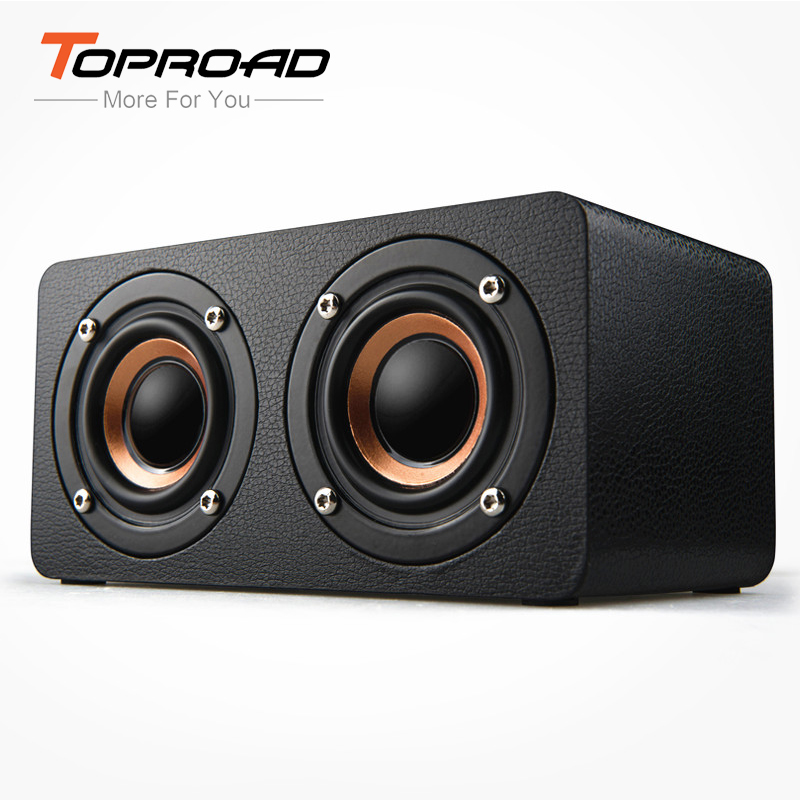 TOPROAD Portable 10W Bluetooth Speaker Wireless 3D Stero Home Theater Desktop Speakers caixa de som Support FM Radio Aux TF-in Portable Speakers from Consumer Electronics