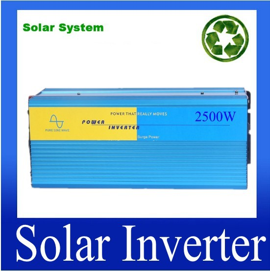 цена на Fedex DHL UPS Free Shipping, 2500W Inverter DC12V/24V/48V to AC220V Pure Sine Wave Inverter 5000W Peak Power ISO9001 CE ROHS FCC