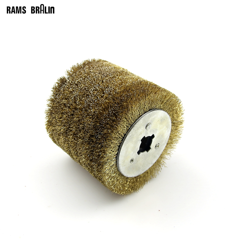 1 Piece Stainless Steel Wire Brush Wheel Wood Open Paint Polishing Deburring Wheel For Electric Striping Machine