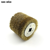 Stainless Steel Wire Brush Wheel Wood Open Paint Polishing Deburring Wheel For Electric Wire Drawing Machine