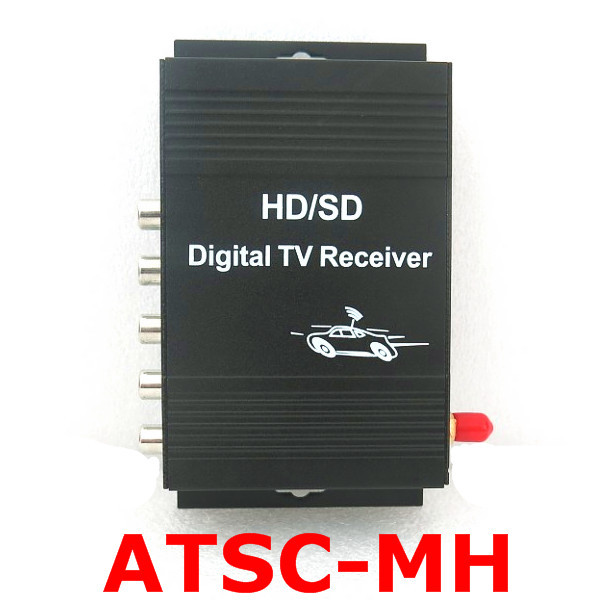 Car ATSC-M/H USA Mobile Digital TV Tuner Receiver 140-190km/h Video 4 ATSC-MH for USA , Free Shipping freesat v7 combo atsc powervu youtube dvb s2 atsc satelite receiver for united states mexico canada south korea atsc tv tuner