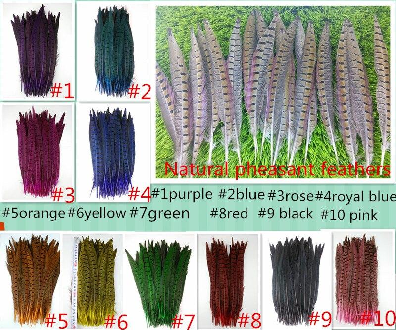 10 piezas de plumas de cola de faisán de alta calidad, 25-30cm, - Artes, artesanía y costura