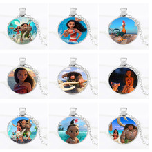 2018 Multiple styles Moana necklace Vaiana Moana princess Key Ring Pendant Movie can light Figures Action toys(China)