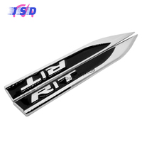 Car Styling Accessories For R T RT Logo Side Fender Stickers Metal Blade Badge Emblem Decals