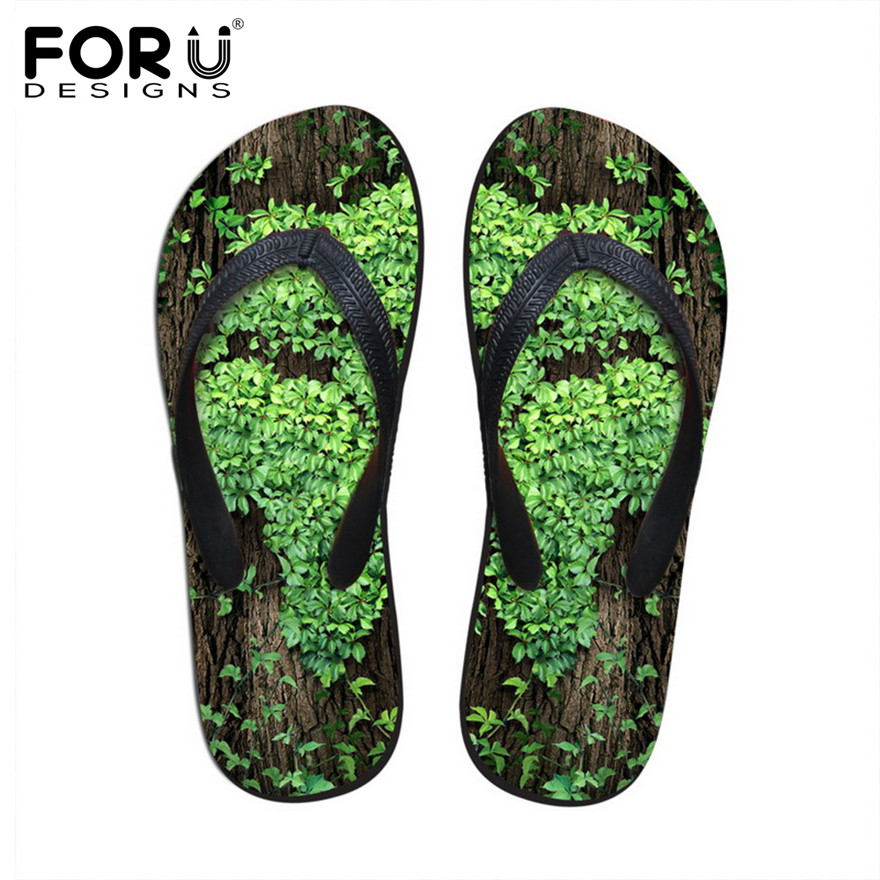Women's Shoes Forudesigns Fashion Womens Summer Beach Slippers 2018 Novelty Floral Printed Rubber Flip Flops For Woman Female Sandals Shoes Modern Techniques