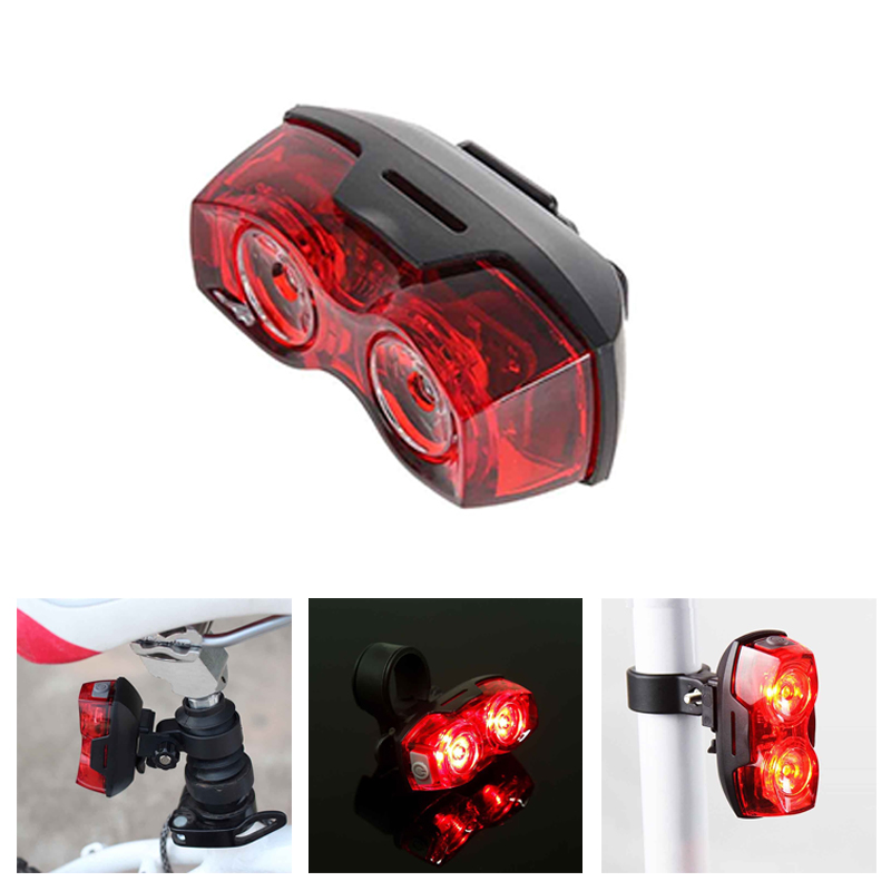 Super Bright Trail Light Bicycle Tail LED Night Riding Cycle Bike Light REAR AAA Battery Easy Installation