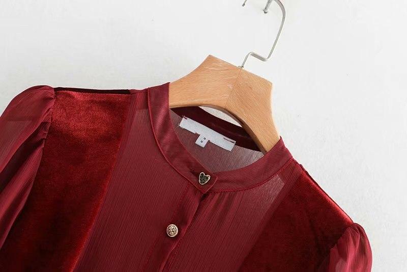Vestido largo de terciopelo rojo vino Vintage con cinturón con lazo sólido  para mujer manga larga cuello alto trabajo Oficina elegante vestido de  fiesta en ... 346d621e3ca6