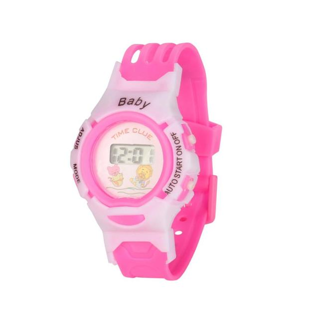 Fashion Cut LED WatchDouble Display Boys Girls StudentsTime Electronic Waterproo