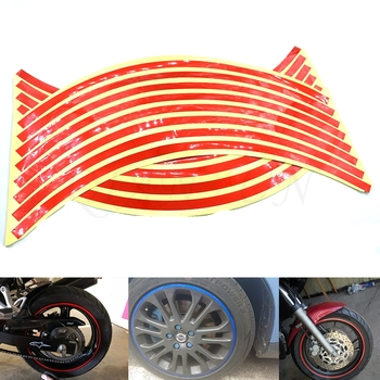 Hot Sale Motorcycle Wheel Sticker Reflective Decals Rim Tape Car/bicycle for BMW K1600 K1200S R1200R R1200S R1200ST R1200GS image
