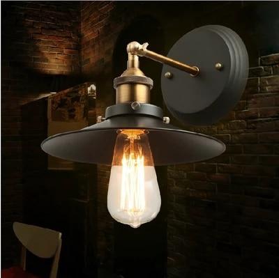 LED simple pared creativa barra de lámpara de pared de hierro retro - Iluminación interior