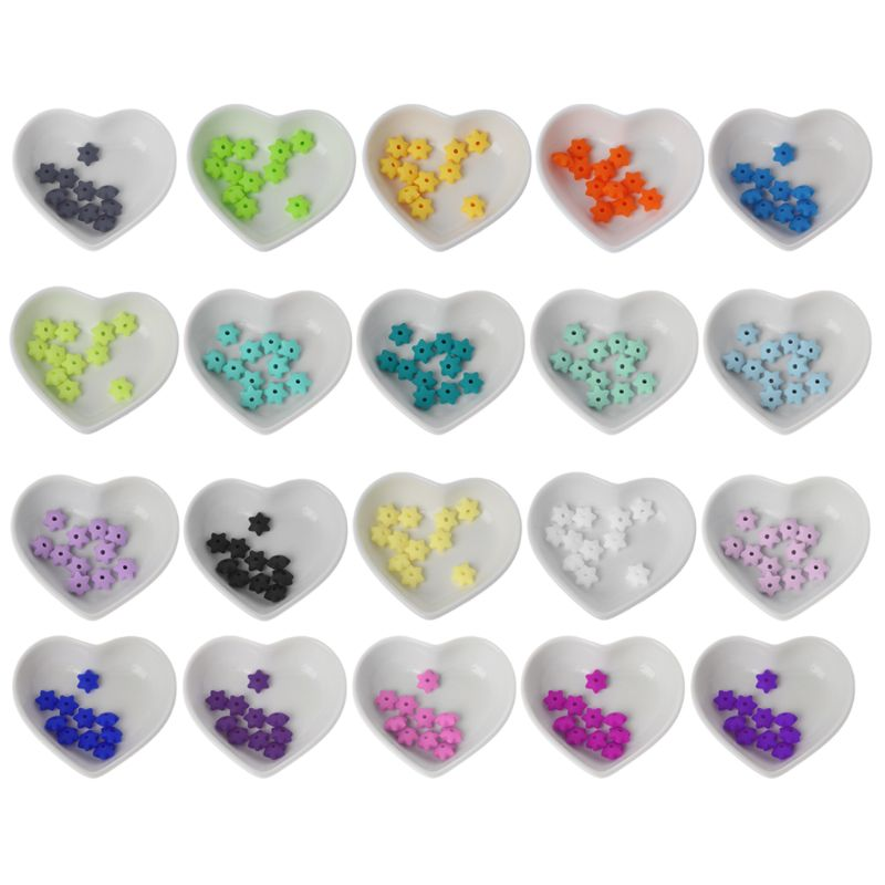 10Pcs Baby Teether Silicone Beads For Mom DIY Bracelets Necklaces Craft Jewelry 20 Colors