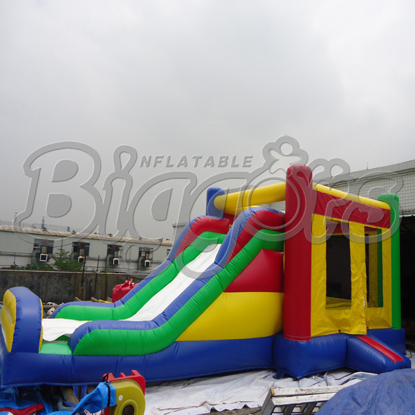 FREE SHIPPING BY SEA PVC Commercial Combo Inflatable font b Bouncer b font With Slide For