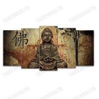 5pcs new 5D DIY Full Square/Round Diamond Painting Buddha Multi picture Combination Embroidery Cross Stitch Mosaic Decor gift