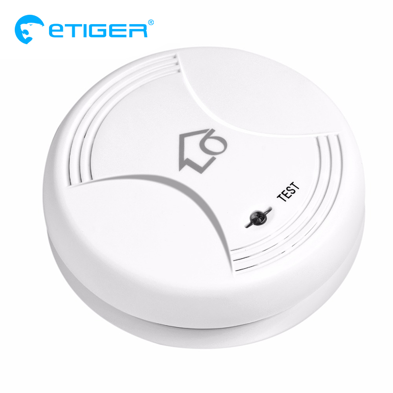 Wireless Smoke/Fire Detector For Wireless For Touch Keypad Panel Wifi GSM Home Security Burglar Voice Alarm System