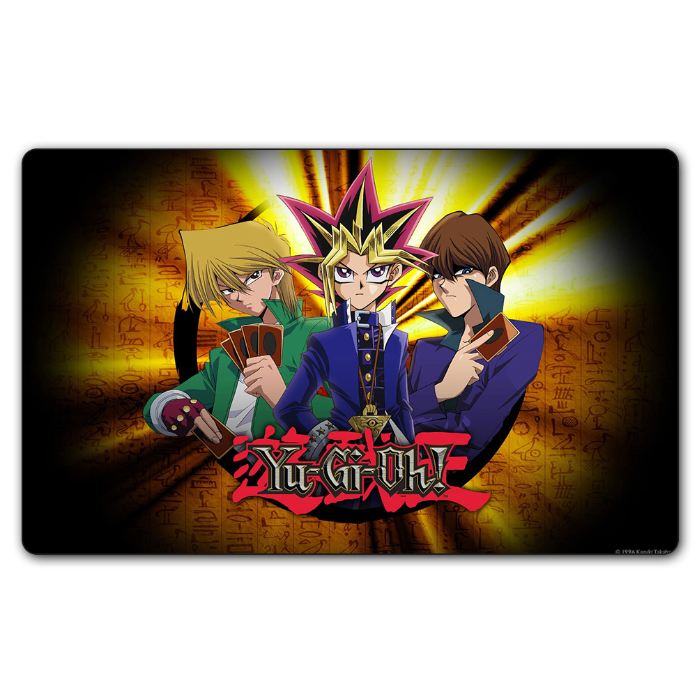 (#73 YGO Playmat) 14x24 Inches YU-GI-OH Let Us Fight Play Mat Board Games YuGiOh Card Games MGT Table Pad with Free Gift Bag