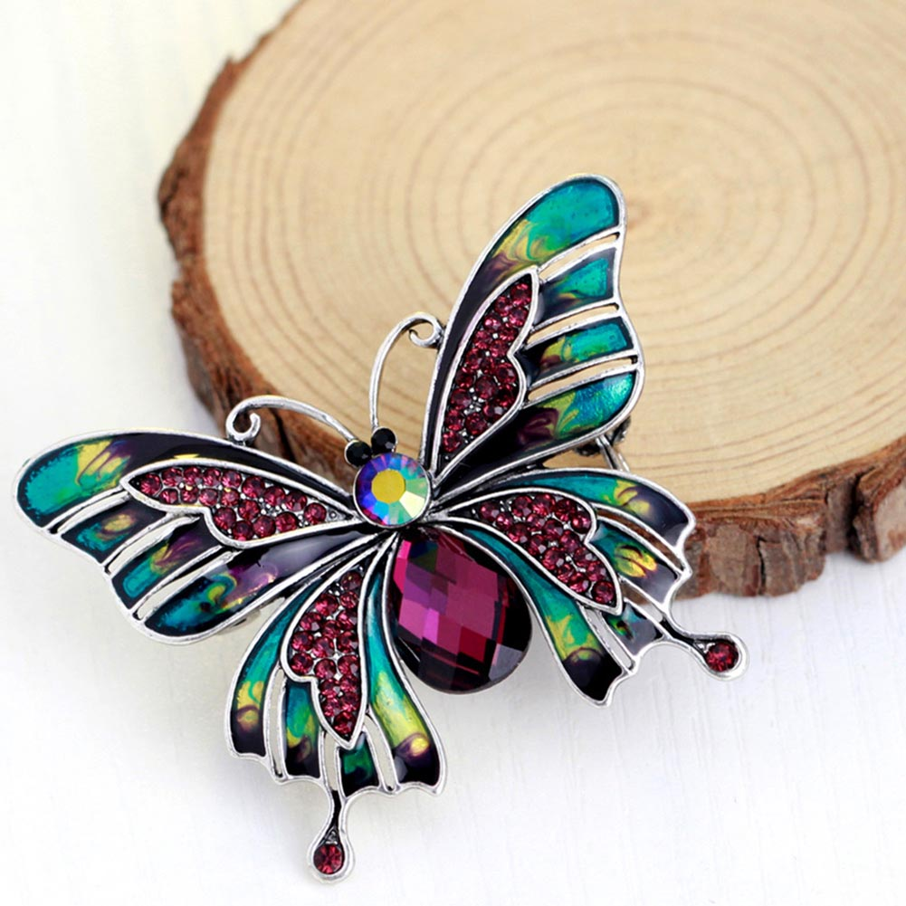 Hot Sale Fashion Large Butterfly Brooches Corsage Brooch Wedding Brooch Violetta Insect Hijab Pin Up Brooches