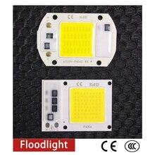COB LED Chip 50W 220V 30W 20W 10W 3W Smart IC No Need Driver LED Bulb Lamp For DIY Floodlight Spotlight led cob chip 20w 30w 50w full spectrum international general voltage no need driver smart ic for diy floodlight spotlight