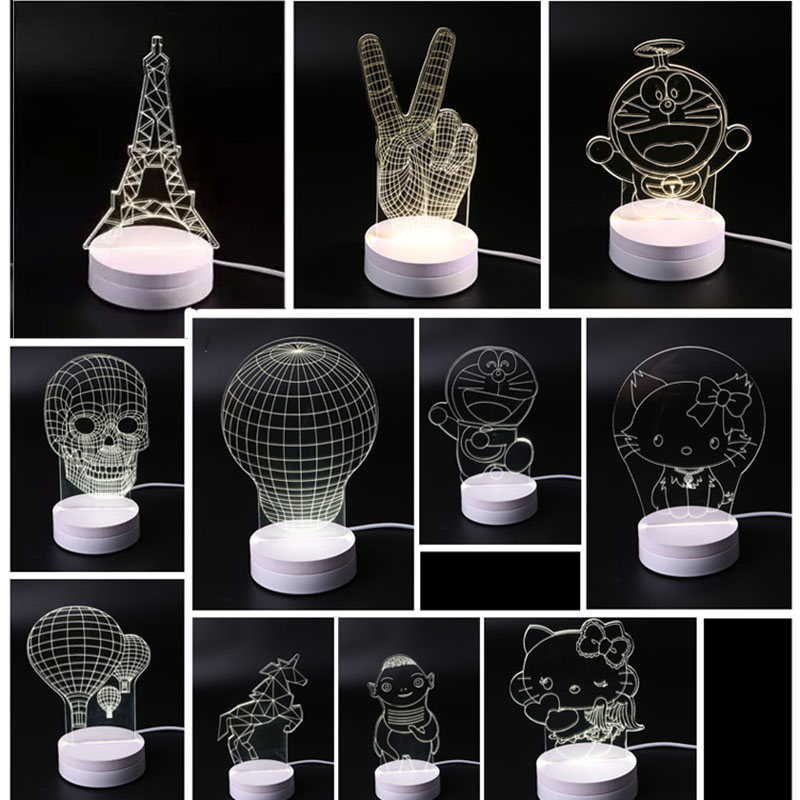 ФОТО (1 pieces/lot) 20 different style cartoon characters 3D Three-dimensional LED Night Lights,AC 220V Creative Small Desk Lamp